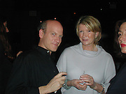 Timothy Greenfield Sanders and Martha Stewart. Damian Hirst opening reception and after party. Gagosian gallery and 118 10th Ave. New York. 23 September 2000.  © Copyright Photograph by Dafydd Jones 66 Stockwell Park Rd. London SW9 0DA Tel 020 7733 0108 www.dafjones.com