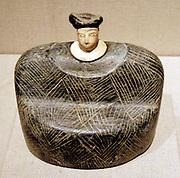 Seated female figure. ca. late 3rd–early 2nd millennium B.C.  Bronze Age. Bactria-Margiana. Steatite or chlorite, alabaster