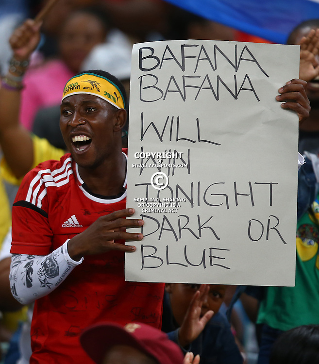 DURBAN, SOUTH AFRICA, 29,MARCH, 2016 - GV of Fans during the match between Bafana Bafana vs Cameroon at Moses Mabhida Stadium in Durban, South Africa. (Photo by Steve Haag)<br /> <br /> images for social media must have consent from Steve Haag