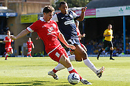 Picture by David Horn/Focus Images Ltd +44 7545 970036.18/08/2012.Ryan Hall of Southend United (right) and Charlie Barnett (left) of Accrington Stanley during the npower League 2 match at Roots Hall, Southend.