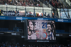 January 20, 2018 - Barcelona, Spain - BARCELONA, SPAIN - JANUARY 20: Tribute to Antonio Puerta and Dani Jarque during La Liga match between RCD Espanyol v Sevilla FC at RCD Stadium in Barcelona on 20 of January, 2018. (Credit Image: © Xavier Bonilla/NurPhoto via ZUMA Press)
