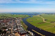 Nederland, Overijssel, Gemeente Genemuiden , 03-10-2010; Genemuiden met Zwarte water en polder de oostelijke Buitenlanden..Aan de horizon het Zwarte Water en de Noordoostpolder.luchtfoto (toeslag), aerial photo (additional fee required).foto/photo Siebe Swart