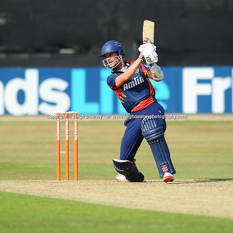 """James Foster of Essex batting during the Friends Life T20 between Essex """"Eagles"""" v Sussex """"Sharks"""". at the Essex County Cricket Ground on the 14th July 2013. Credit: © Leigh Dawney Photography. Self Billing where applicable. Tel: 07812 790920"""