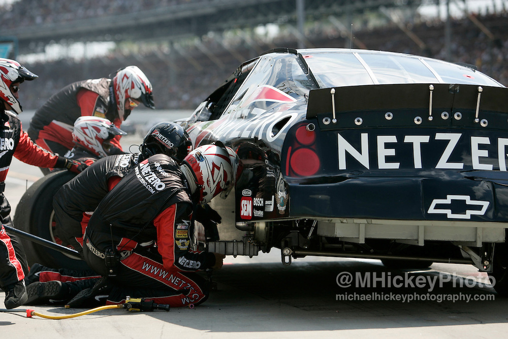 Ward Burton had a lengthy pit stop early in the race to replace a dying battery