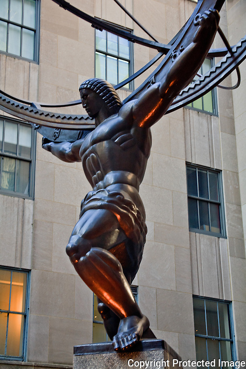 Atlas and the World at Rockefeller Center