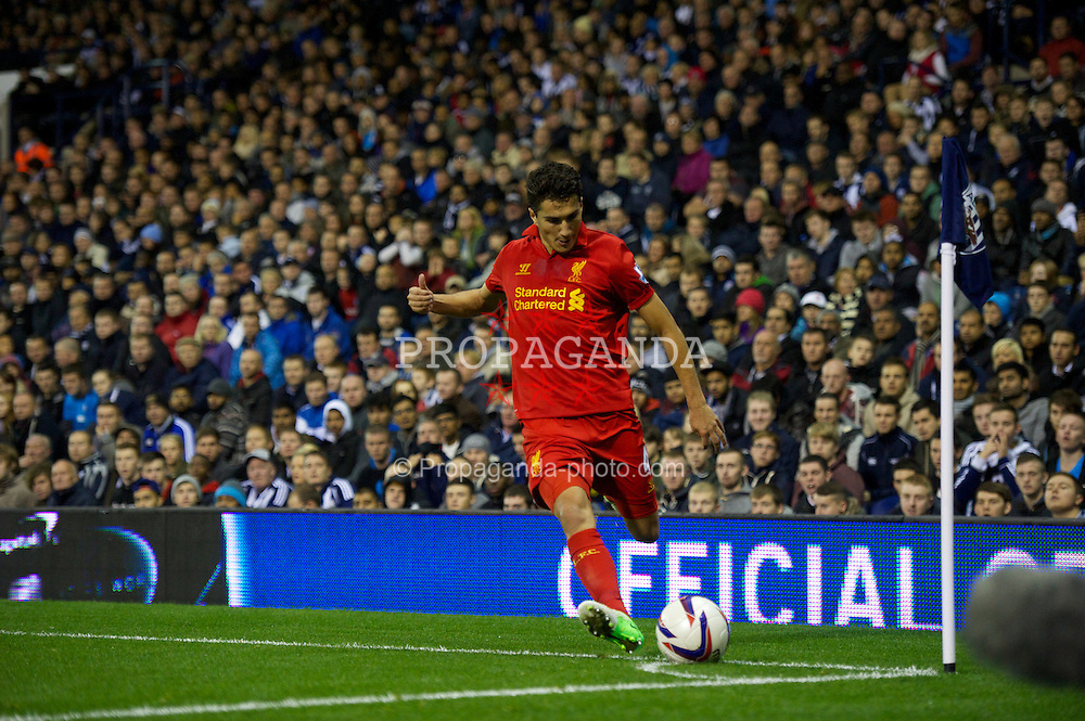 WEST BROMWICH, ENGLAND - Wednesday, September 26, 2012: Liverpool's Nuri Sahin in action against West Bromwich Albion during the Football League Cup 3rd Round match at the Hawthorns. (Pic by David Rawcliffe/Propaganda)