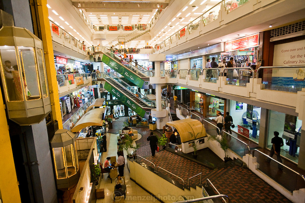 Shoppers at the Brigade Road shopping mall in Bangalore, India.