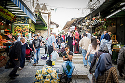 Daily life in the Old City, Jerusalem.