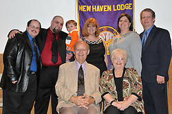 Bonnie Mullin Family Group Photo. Installation of Officers New Haven Elks Club Lodge # 25. April 9, 2011