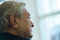 11 APR 2012, BERLIN/GERMANY:<br /> George Soros, Investor, 10. Treffen der Engagierten Europaeer, Projektzentrum Berlin, Stiftung Mercator<br /> IMAGE: 20120411-01-151
