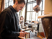 Jeremy, barista and Claire Whitt