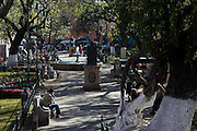 View of the Garden of Roses in Morelia, Michoacan state Mexico. The city is a UNESCO World Heritage Site and hosts on of the best preserved collection of Spanish Colonial architecture in the world.