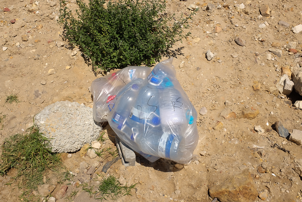 Plastic bottles for sale at the Dido Valley Spring, near Simonstown in Cape Town.