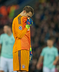 LIVERPOOL, ENGLAND - Tuesday, February 19, 2019: FC Bayern Munich's goalkeeper Manuel Neuer during the UEFA Champions League Round of 16 1st Leg match between Liverpool FC and FC Bayern München at Anfield. (Pic by David Rawcliffe/Propaganda)