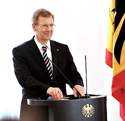 01.02.2012, GER, THEMENPAKET, Bundespräsident Wulff, im Bild Bundespraesident Christian WULFF, Bild aufgenommen am 05.10.2010. EXPA Pictures © 2012, PhotoCredit: EXPA/ Eibner/ Michael Schulz..***** ATTENTION - OUT OF GER *****
