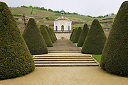 RADEBEUL, GERMANY - MAY 20, 2010: View to the pavilion in the Wackerbarth castle in Radebeul, Germany.