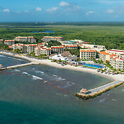 Aerial view of the Marina El Cid hotel. Riviera Maya. Mexico
