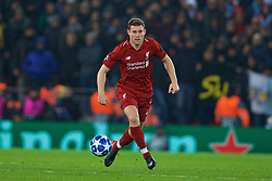 LIVERPOOL, ENGLAND - Tuesday, December 11, 2018: Liverpool's James Milner during the UEFA Champions League Group C match between Liverpool FC and SSC Napoli at Anfield. (Pic by David Rawcliffe/Propaganda)