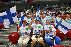 TIFOSI FINLANDESI.ITALIA - FINLANDIA.PALLAVOLO TORNEO QUALIFICAZIONE OLIMPICA VOLLEY 2012.SOFIA (BULGARIA) 08-05-2012.FOTO GALBIATI - RUBIN