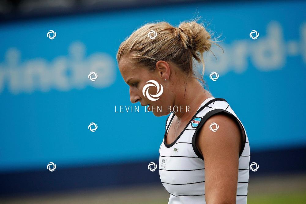ROSMALEN - Op de Unicef Open is dit de wedstrijd tussen Dominika Cibulkova en Svetlana Kuznetsova. Met hier op de foto de winnares Dominika Cibulkova. FOTO LEVIN DEN BOER - PERSFOTO.NU