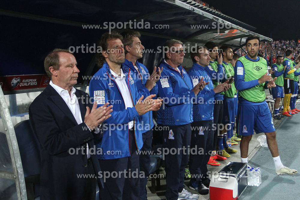 13.10.2014, Stadion Gradski vrt, Osijek, CRO, UEFA Euro Qualifikation, Kroatien vs Aserbaidschan, Gruppe H, im Bild Berti Vogts // during the UEFA EURO 2016 Qualifier group H match between Croatia and Azerbaijan at the Stadion Gradski vrt in Osijek, Croatia on 2014/10/13. EXPA Pictures &copy; 2014, PhotoCredit: EXPA/ Pixsell/ Marko Mrkonjic<br /> <br /> *****ATTENTION - for AUT, SLO, SUI, SWE, ITA, FRA only*****