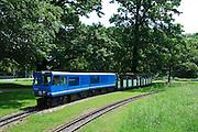 Großer Garten, Parkeisenbahn, Sachsen, Deutschland.|.Grosser Garten, park railway, Dresden, Germany