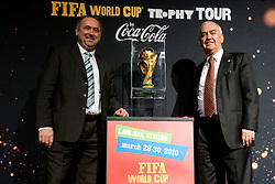and Franc Kopatin at VIP reception of FIFA World Cup Trophy Tour by Coca-Cola, on March 29, 2010, in BTC City, Ljubljana, Slovenia.  (Photo by Vid Ponikvar / Sportida)