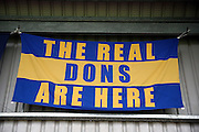 The real dons during the EFL Sky Bet League 1 match between AFC Wimbledon and Oxford United at the Cherry Red Records Stadium, Kingston, England on 14 January 2017. Photo by Matthew Redman.