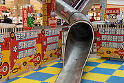 SHANGHAI, CHINA - FEBRUARY 13: (CHINA OUT) <br /> <br /> Slide In Shopping Mall<br /> <br /> General view of a slide built in a five-storey shopping mall on February 13, 2016 in Shanghai, China. The slide will be open to the public at the end of February so shoppers can move quickly around the shopping centre<br /> ©Exclusivepix Media