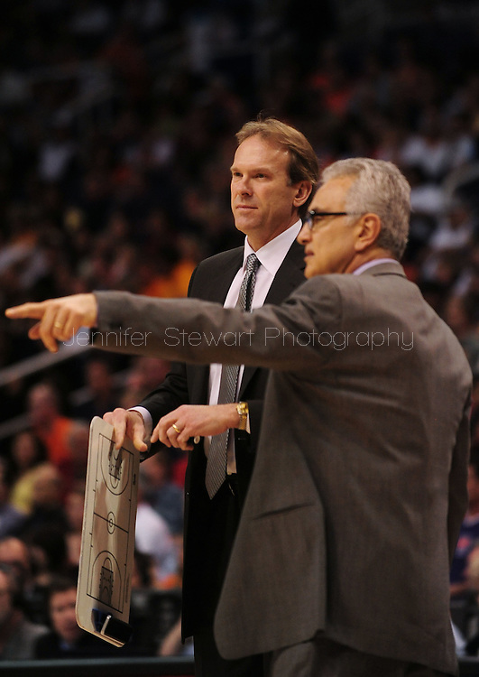 Mar. 16 2010; Phoenix, AZ, USA; Minnesota Timberwolves head coach Kurt Rambins in the first half at the US Airways Center. Mandatory Credit: Jennifer Stewart-US PRESSWIRE.