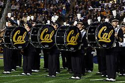 BERKELEY, CA - OCTOBER 06: Members of the California Golden Bears band on the field before the game against the UCLA Bruins at California Memorial Stadium on October 6, 2012 in Berkeley, California. The California Golden Bears defeated the UCLA Bruins 43-17. (Photo by Jason O. Watson/Getty Images) *** Local Caption ***