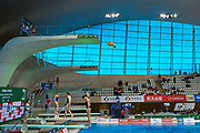 General view of Diving Pool during practice session ahead of during the FINA/CNSG Diving World Series 2019 at London Aquatics Centre, London, United Kingdom on 19 May 2019.