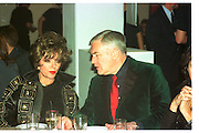 JOAN COLLINS; CONRAD BLACK, Baby 2000 dinner, Atlantis Gallery. Brick Lane. London. 4 November 1999.<br /> <br /> SUPPLIED FOR ONE-TIME USE ONLY> DO NOT ARCHIVE. © Copyright Photograph by Dafydd Jones 248 Clapham Rd.  London SW90PZ Tel 020 7820 0771 www.dafjones.com