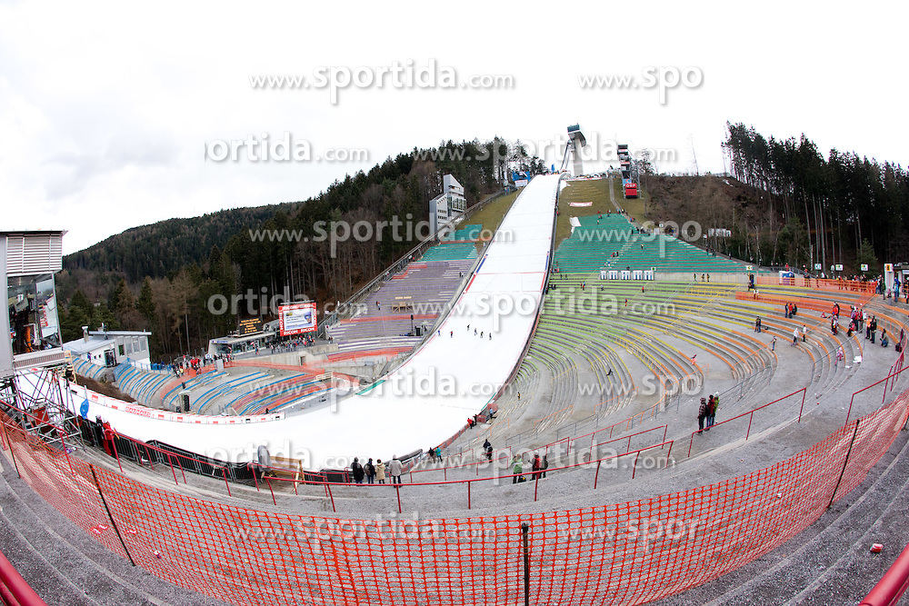 The Bergisel's Hill after the canceled qualifications of the FIS Ski Jumping World Cup event of the 58th Four Hills ski jumping tournament, on January 2, 2010 in Bergisel, Innsbruck, Austria.(Photo by Vid Ponikvar / Sportida)