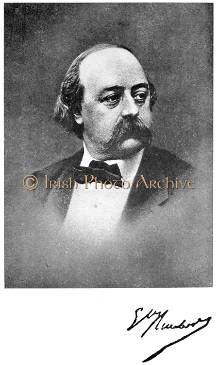 Gustave Flaubert (1821-1880) French Author.