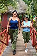 Guides at Portada de la Libertad, Granma, Cuba.
