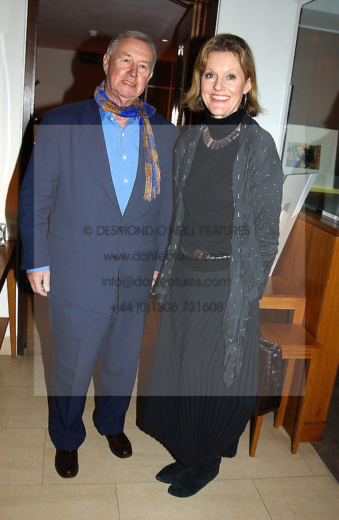 SIR TERENCE & LADY CONRAN at a party to celebrate a book of work by artist Jack Vettriano held at The Bluebird Club & Dining Room, 350 Kings Road, London on 7th December 2004.<br /><br />NON EXCLUSIVE - WORLD RIGHTS