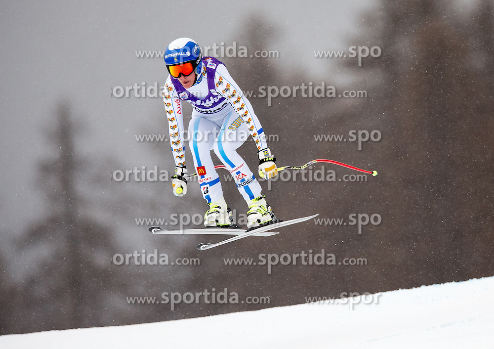 16.01.2015, Olympia delle Tofane, Cortina d Ampezzo, ITA, FIS Weltcup Ski Alpin, Abfahrt, Damen, im Bild Kajsa Kling (SWE) // Kajsa Kling of Sweden in action during the ladies Downhill of the Cortina FIS Ski Alpine World Cup at the Olympia delle Tofane course in Cortina d Ampezzo, Italy on 2015/01/16. EXPA Pictures © 2015, PhotoCredit: EXPA/ Johann Groder