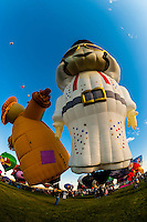 A special shape balloon called Aaron (Elvis' middle name) from Brazil at the Albuquerque International Balloon Fiesta, Albuquerque, New Mexico USA