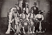 Sioux Chiefs after a meeting at the White House, Washington, USA c1877. North American Indian. Indigenous people.