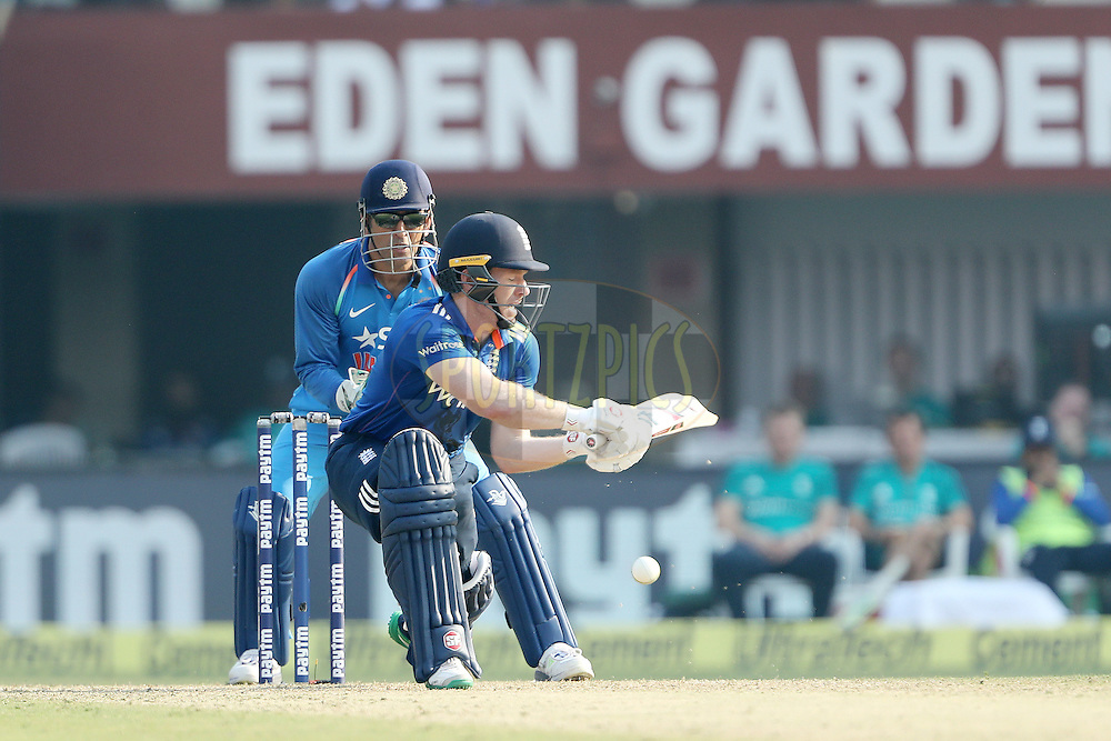 Eoin Morgan, Captain of England during the third One Day International (ODI) between India and England  held at Eden Gardens in Kolkata on the 22nd January 2017<br /> <br /> Photo by: Ron Gaunt/ BCCI/ SPORTZPICS