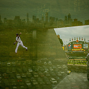 &quot;Upper Deck.&quot; White Sox opening day on Monday, March 31, 2014 at U.S. Cellular Field. Made with three exposures in camera. (Brian Cassella/Chicago Tribune) B583640404Z.1 <br /> ....OUTSIDE TRIBUNE CO.- NO MAGS,  NO SALES, NO INTERNET, NO TV, CHICAGO OUT, NO DIGITAL MANIPULATION...