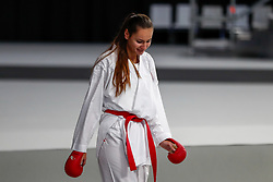 November 10, 2018 - Madrid, Madrid, Spain - Kopunovafigth Miroslava (SVK) win the third place of Female Kumite -68 Kg during the Finals of Karate World Championship celebrates in Wizink Center, Madrid, Spain, on November 10th, 2018. (Credit Image: © AFP7 via ZUMA Wire)