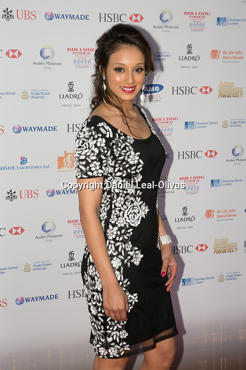 Asian Rich List Gala. Seema Pathan attends the annual ceremony which recognises the country\'s richest Asians. Figures compiled by the Eastern Eye newspaper. Park Plaza Hotel, London, United Kingdom. Friday, 11th April 2014. Picture by Daniel Leal-Olivas / i-Images