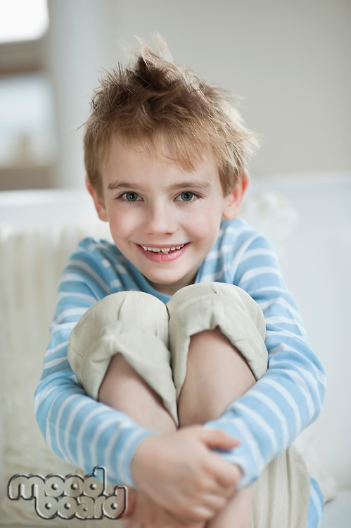 Portrait of a happy young boy smiling