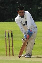 SAINTS BATSMAN ZED BABER, ROTHWELL CRICKET CLUB v  NORTHAMPTON SAINTS  CC, Desborough  Road Rothwell  Saturday 25th June 2016