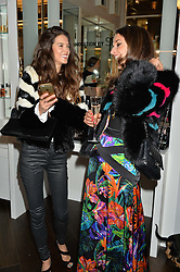 Left to right, SARAH ANN MACKLIN and ROSANNA FALCONER at the launch of the Space NK Global Flagship store at 285-287 Regent Street, London on 10th November 2016.