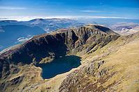 Llyn Cau &amp; Cadair Idris<br /> Snowdonia<br /> Aerial<br /> Mid<br /> Scenery