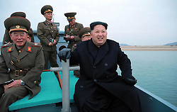 Undated photo from North Korean News Agency shows North Korean leader Kim Jong-un inspecting a Korean People's Army unit, in undisclosed location, North Korea. Photo released November 2016. Photo by Balkis Press/ABACAPRESS.COM