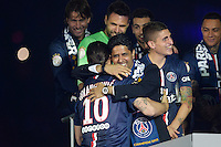 Nasser Al Khelaifi / Zlatan Ibrahimovic  - 23.05.2015 - PSG / Reims - 38eme journee de Ligue 1<br />Photo : Andre Ferreira / Icon Sport